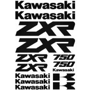 Kawasaki ZXR 750 Stickers Car Motorbike Vinyl Decals